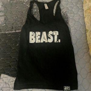 "Black ""beast"" workout tank top"